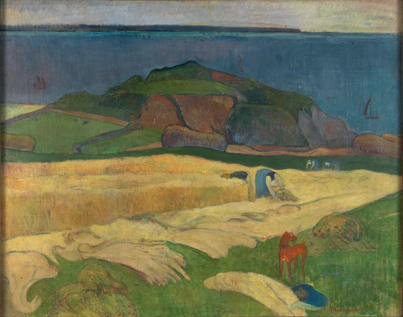 Paul Gauguin - Harvest - Le Pouldu. Part 5 National Gallery UK
