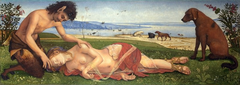 Piero di Cosimo - A Satyr mourning over a Nymph. Part 5 National Gallery UK