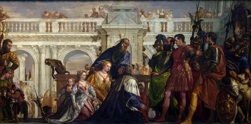 Paolo Veronese - The Family of Darius before Alexander. Part 5 National Gallery UK