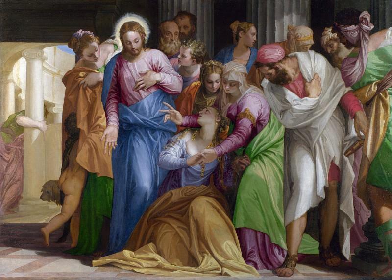 Паоло Веронезе - Обращение Марии Магдалины. Часть 5 Национальная галерея