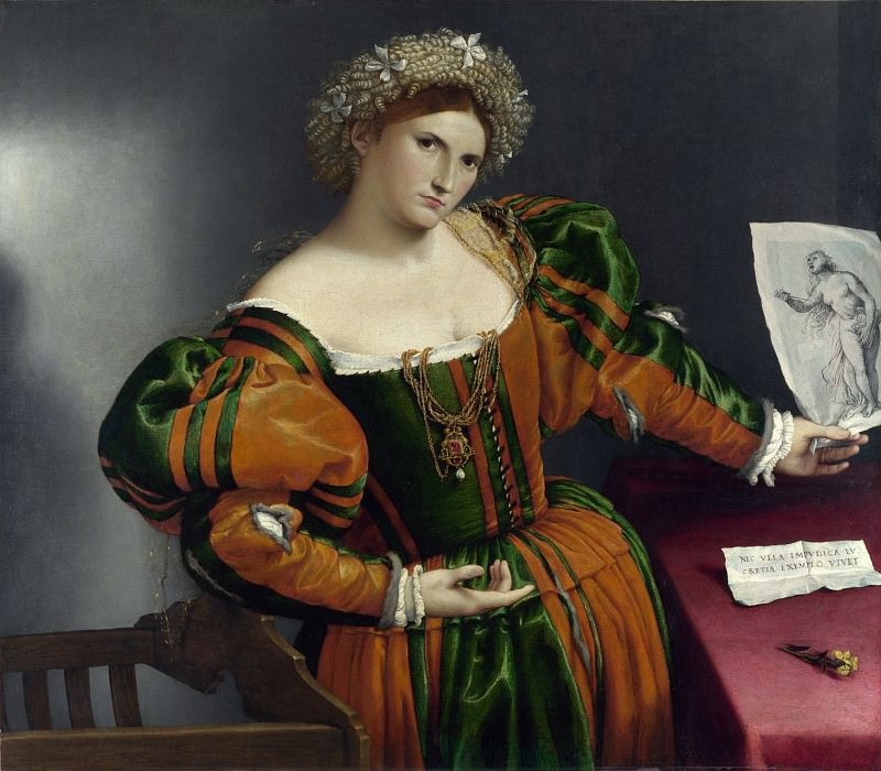 Lorenzo Lotto - Portrait of a Woman inspired by Lucretia. Part 5 National Gallery UK