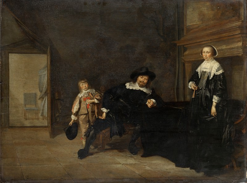 Pieter Codde - Portrait of a Man, a Woman and a Boy in a Room. Part 5 National Gallery UK