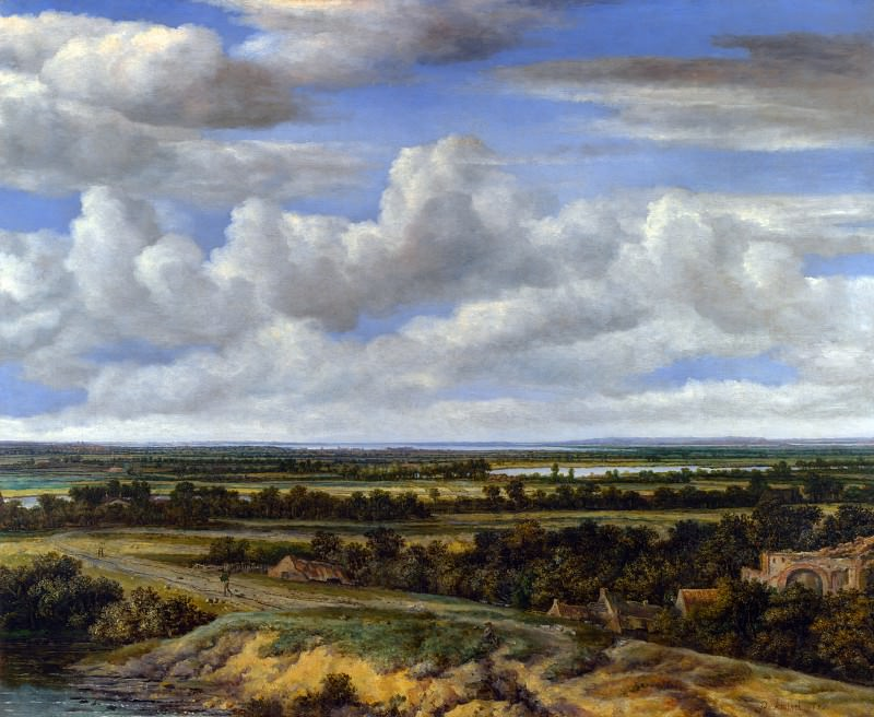 Philips Koninck - An Extensive Landscape with a Road by a River. Part 5 National Gallery UK