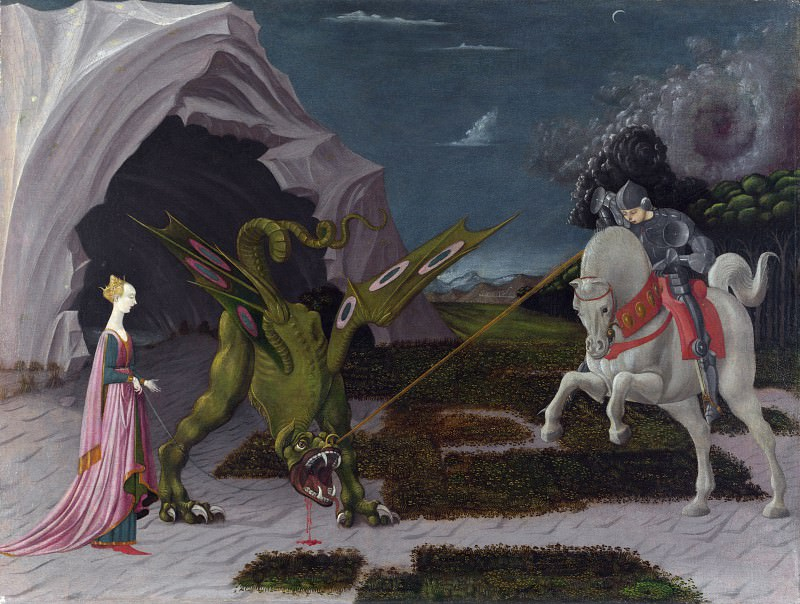 Paolo Uccello - Saint George and the Dragon. Part 5 National Gallery UK