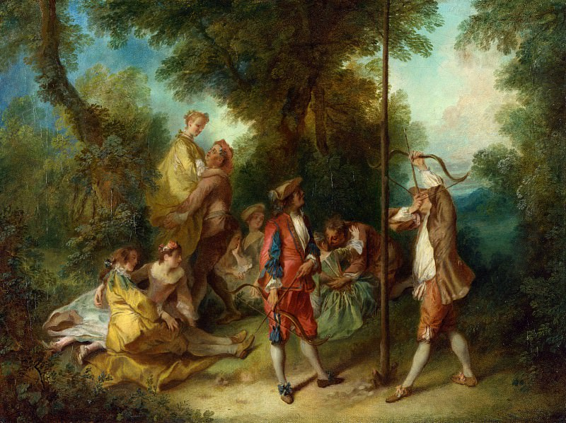 Nicolas Lancret - The Four Ages of Man - Maturity. Part 5 National Gallery UK