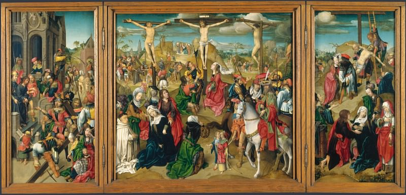 Master of Delft - Triptych - Scenes from the Passion of Christ. Part 5 National Gallery UK