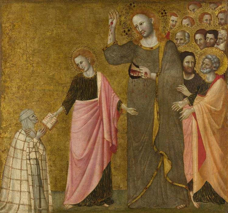 Master of the Blessed Clare - Vision of the Blessed Clare of Rimini. Part 5 National Gallery UK