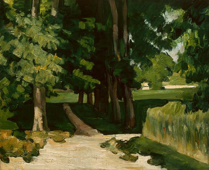 Paul Cezanne - The Avenue at the Jas de Bouffan. Part 5 National Gallery UK