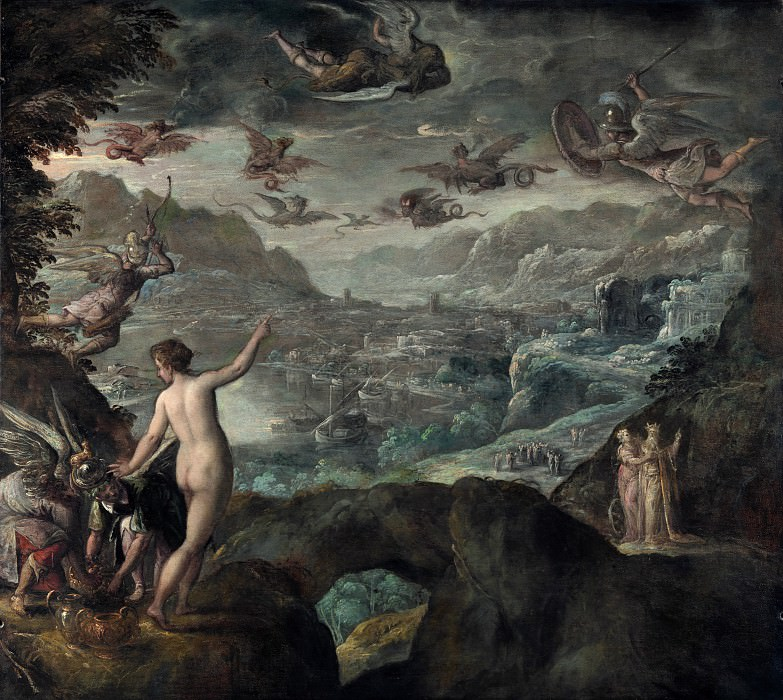 Paolo Fiammingo - Landscape with the Expulsion of the Harpies. Part 5 National Gallery UK