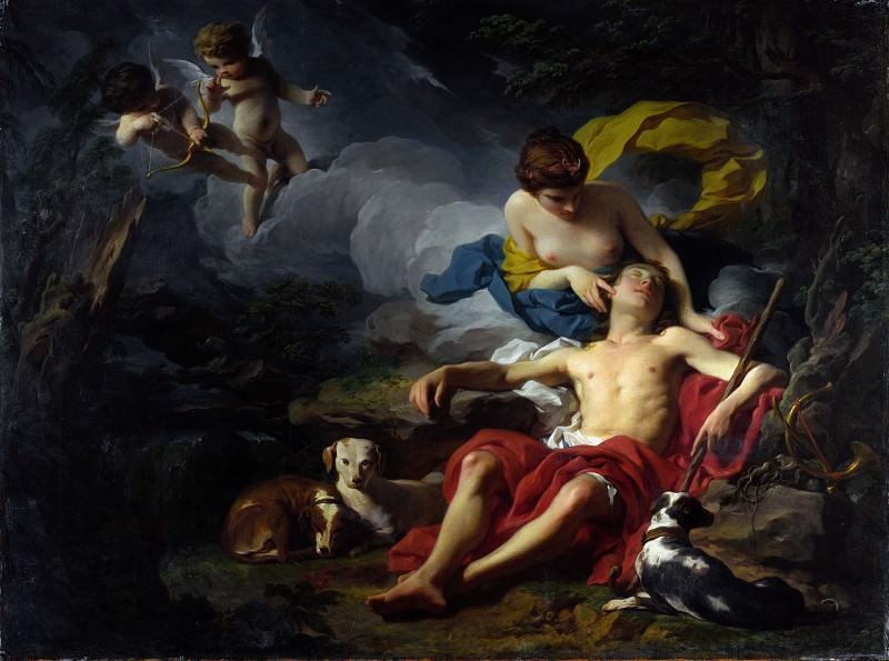 Pierre Subleyras - Diana and Endymion. Part 5 National Gallery UK