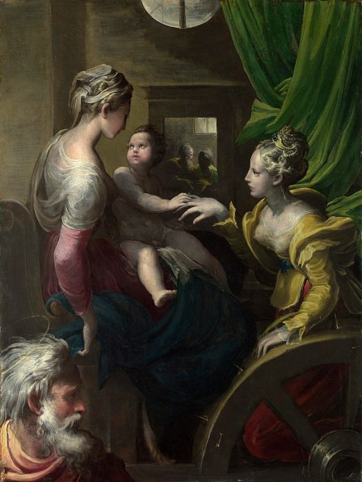 Parmigianino - The Mystic Marriage of Saint Catherine. Part 5 National Gallery UK