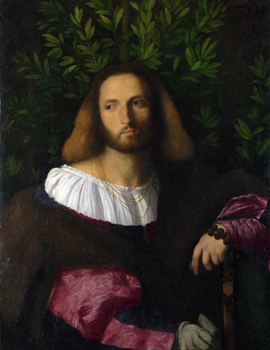 Palma Vecchio - Portrait of a Poet. Part 5 National Gallery UK