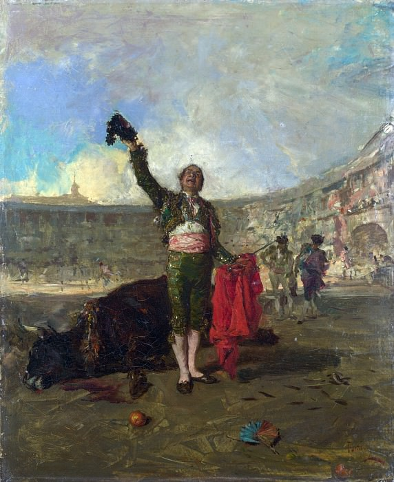 Mariano Fortuny - The Bull-Fighters Salute. Part 5 National Gallery UK