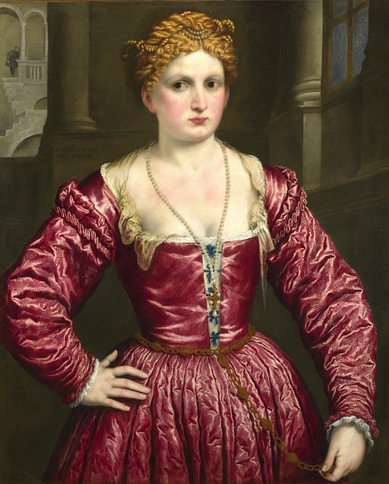 Paris Bordone - Portrait of a Young Woman. Part 5 National Gallery UK
