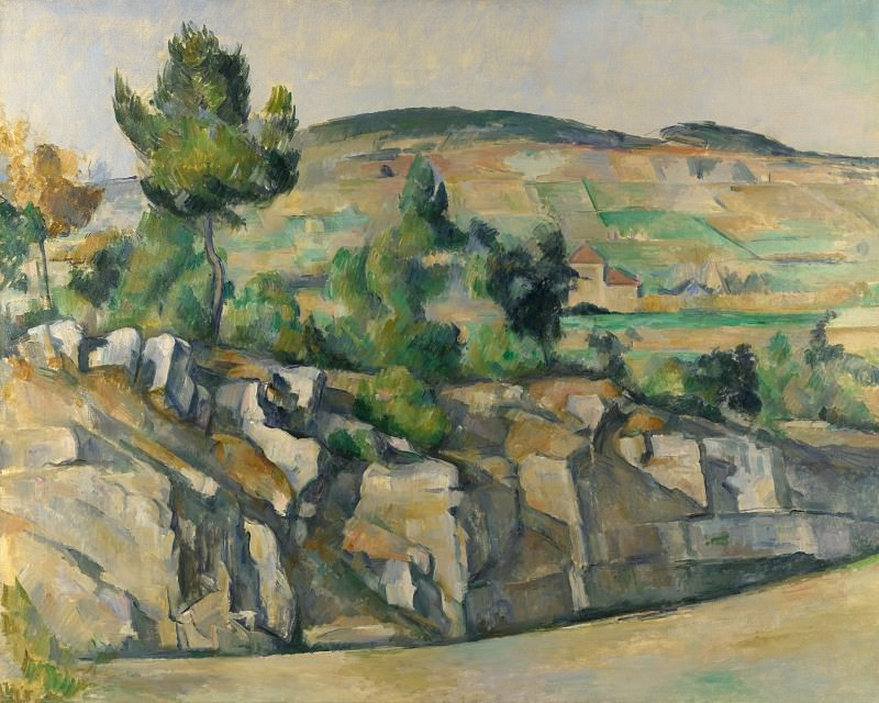 Paul Cezanne - Hillside in Provence. Part 5 National Gallery UK