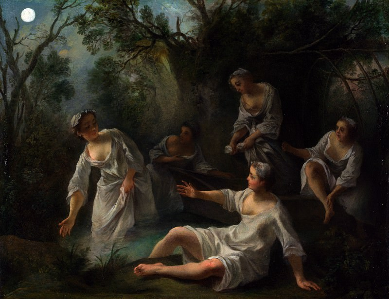 Nicolas Lancret - The Four Times of Day - Evening. Part 5 National Gallery UK