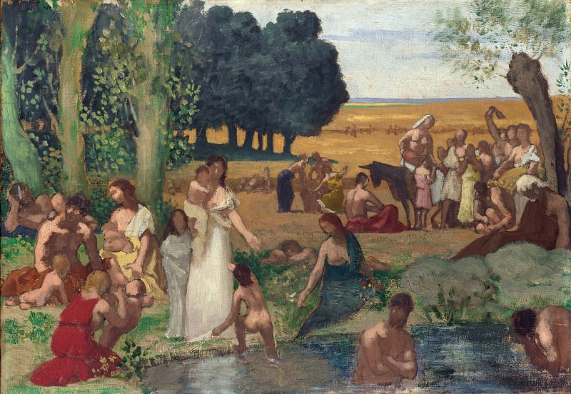 Pierre-Cecile Puvis de Chavannes - Summer. Part 5 National Gallery UK
