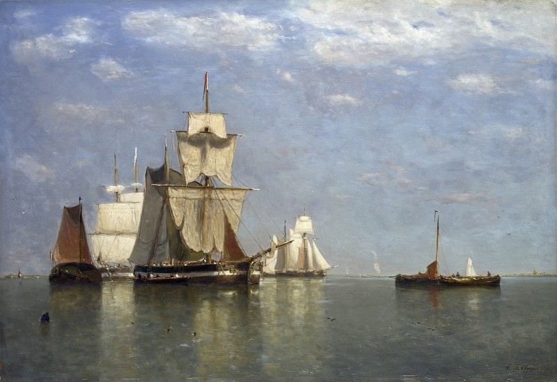 Поль Жан Кле - Парусные корабли близ Влиссингена. Часть 5 Национальная галерея