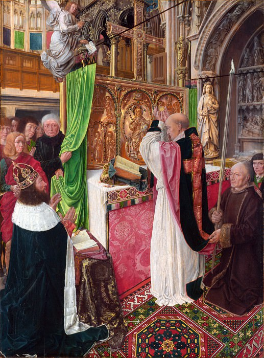 Master of Saint Giles - The Mass of Saint Giles. Part 5 National Gallery UK