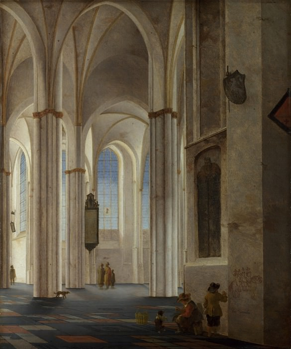 Pieter Saenredam - The Interior of the Buurkerk at Utrecht. Part 5 National Gallery UK