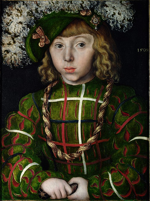 Lucas Cranach the Elder - Portrait of Johann Friedrich the Magnanimous. Part 5 National Gallery UK