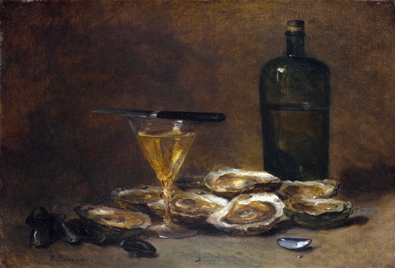 Philippe Rousseau - Still Life with Oysters. Part 5 National Gallery UK