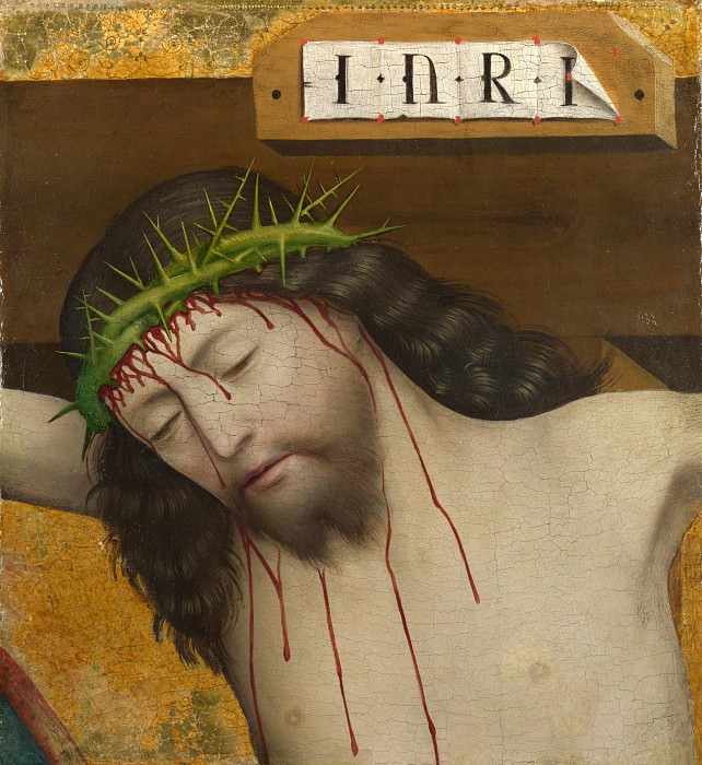 Master of Liesborn - Head of Christ Crucified. Part 5 National Gallery UK