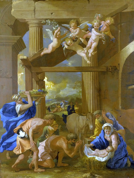 The Adoration of the Shepherds. Nicolas Poussin
