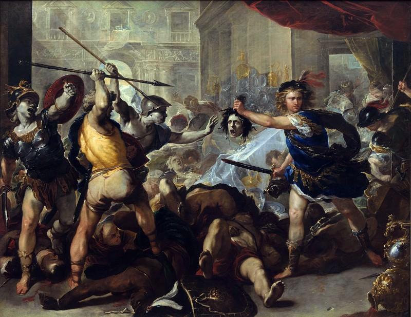 Лука Джордано - Персей превращает Финея и его спутников в камень. Часть 5 Национальная галерея