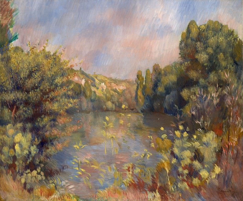 Pierre-Auguste Renoir - Lakeside Landscape. Part 5 National Gallery UK