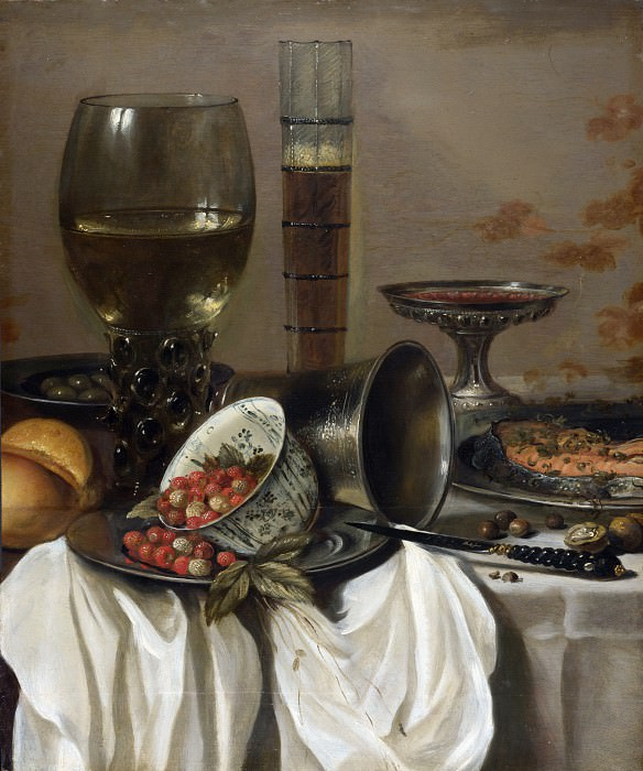 Pieter Claesz. - Still Life with Drinking Vessels. Part 5 National Gallery UK