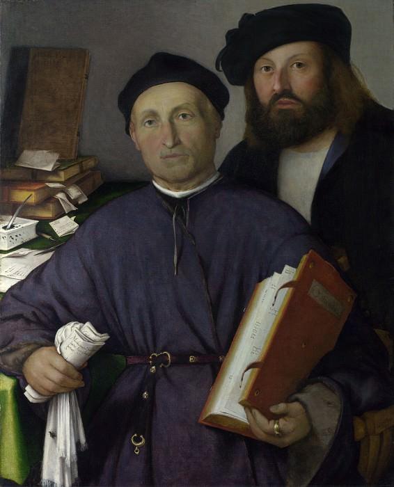 Лоренцо Лотто - Джованни Агостино делла Торре с сыном Никколо. Часть 5 Национальная галерея