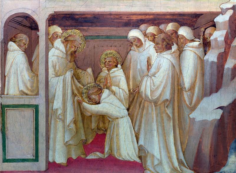 Лоренцо Монако - Святой Бенедикт принимает святых в орден. Часть 5 Национальная галерея