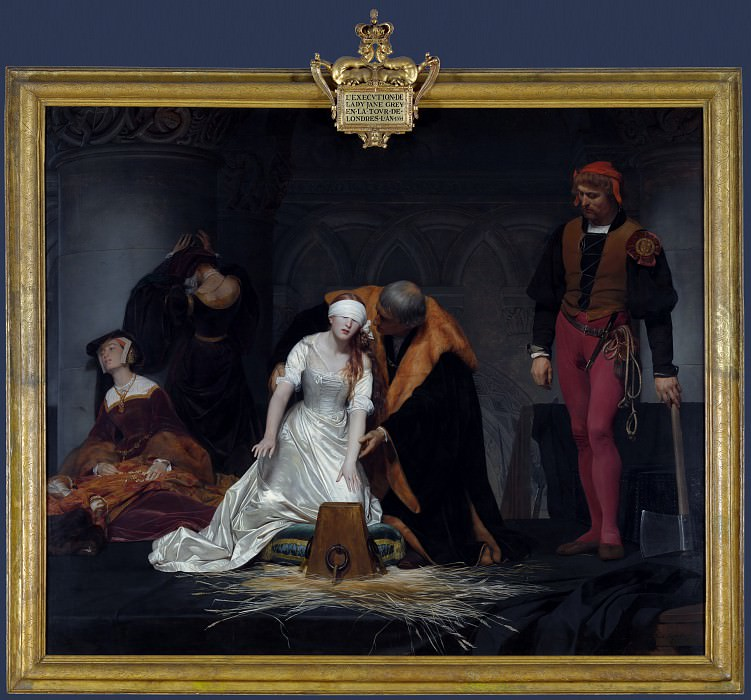 Paul Delaroche - The Execution of Lady Jane Grey. Part 5 National Gallery UK