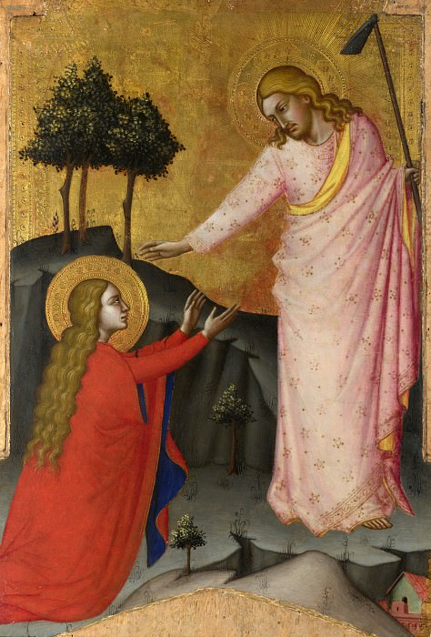 Master of the Lehman Crucifixion - Noli me Tangere. Part 5 National Gallery UK