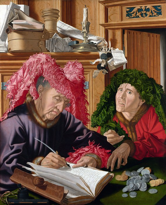 Marinus van Reymerswaele - Two Tax Gatherers. Part 5 National Gallery UK