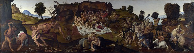 Piero di Cosimo - The Fight between the Lapiths and the Centaurs. Part 5 National Gallery UK