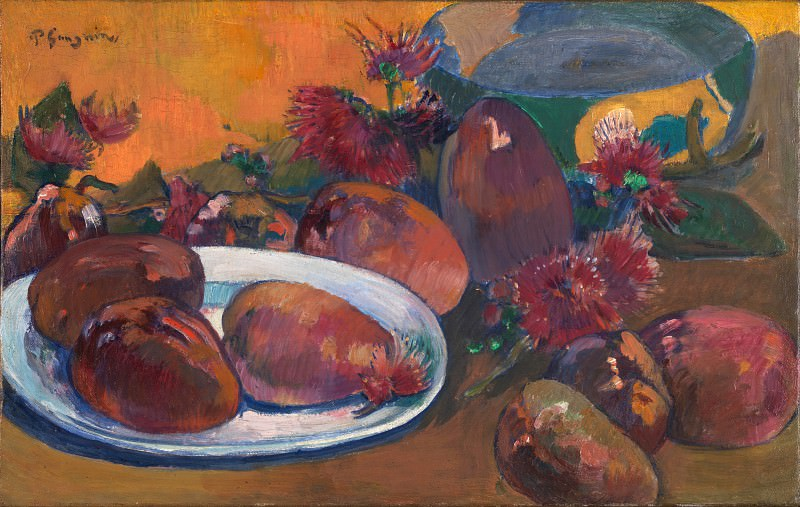 Paul Gauguin - Still Life with Mangoes. Part 5 National Gallery UK