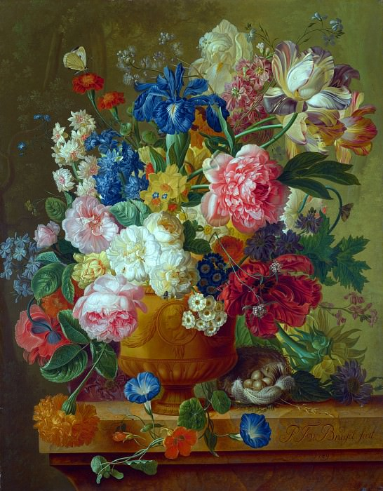 Paulus Theodorus van Brussel - Flowers in a Vase. Part 5 National Gallery UK
