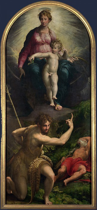 Parmigianino - The Madonna and Child with Saints. Part 5 National Gallery UK