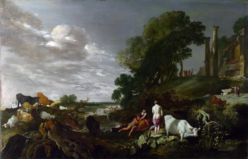 Мозес Эйтенбрук - Пейзаж с мифологической сценой. Часть 5 Национальная галерея