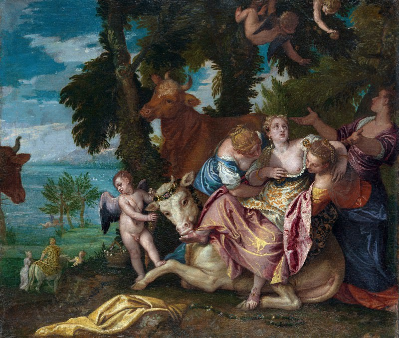 Paolo Veronese - The Rape of Europa. Part 5 National Gallery UK