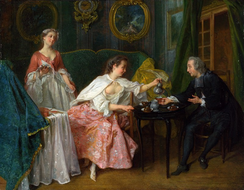 Nicolas Lancret - The Four Times of Day - Morning. Part 5 National Gallery UK