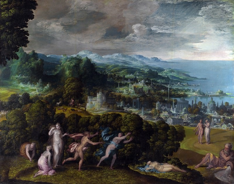Niccolo dell Abate - The Death of Eurydice. Part 5 National Gallery UK