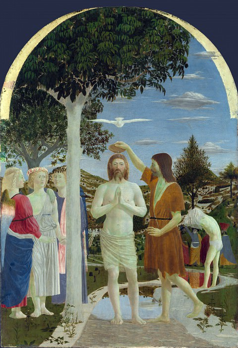 Piero della Francesca - The Baptism of Christ. Part 5 National Gallery UK