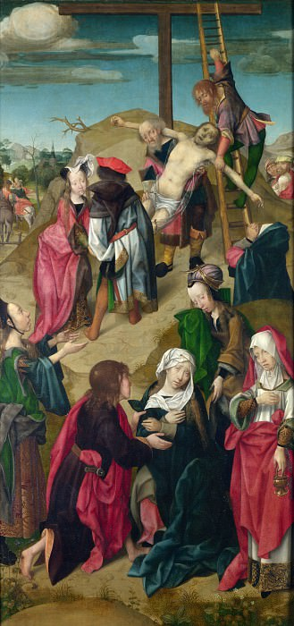 Master of Delft - The Deposition - Right Hand Panel. Part 5 National Gallery UK