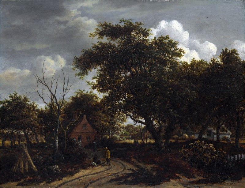 Meindert Hobbema - Cottages in a Wood. Part 5 National Gallery UK