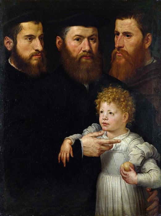 Нидерландский мастер, ок1540 - Трое мужчин и девочка. Часть 5 Национальная галерея