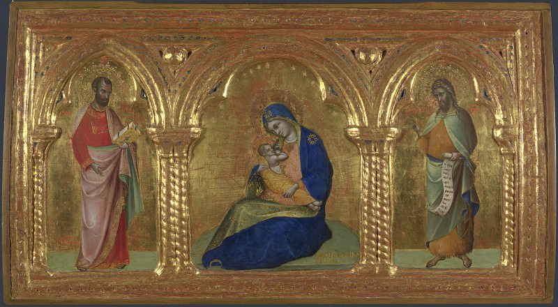 Лоренцо Венециано - Мадонна Смирения со святыми Марком и Иоанном. Часть 5 Национальная галерея