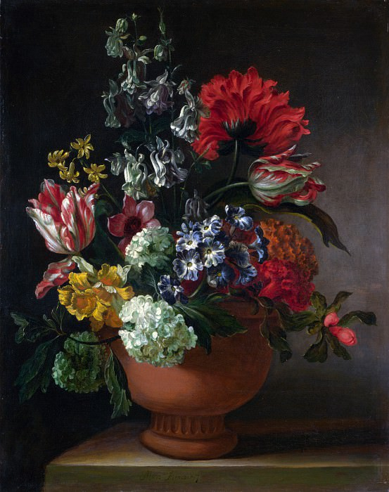 Marie Blancour - A Bowl of Flowers. Part 5 National Gallery UK